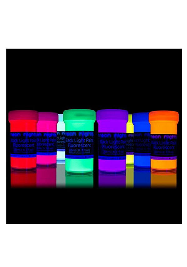 Admirable Black Light Paint 8 X Neon Uv Fluorescent Wall Paint Home Remodeling Inspirations Genioncuboardxyz